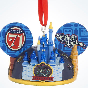 Disney Parks 45th Magic Kingdom Light-UP Ear Hat Christmas Ornament New w Tags