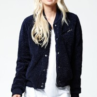 Volcom Flock Off Bomber Jacket - Womens Jacket - Blue