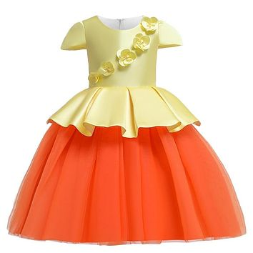 New children's dress  2 3 4 5 6 7 8 9 10 years old with girls princess dress kids party clothing summer baby christmas clothes