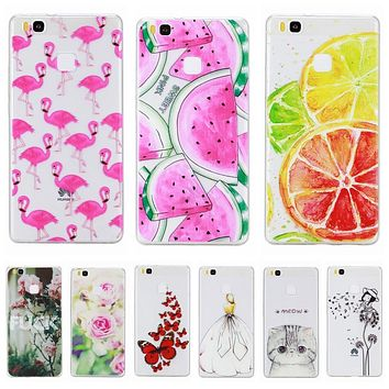 Soft TPU Colorful Patterns Case sFor Capa Huawei Ascend P9 Lite case For Fundas Huawei P9 Lite P9Lite Cell Phone Skin Soft Cover