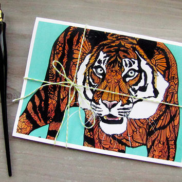 Wild Animal Tangles Greeting Card Set of 5