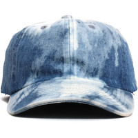 Plain Dad Hat Bleached Denim