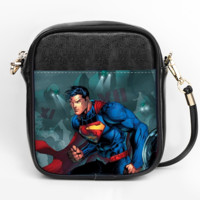 Red Blue Blur Crossbody