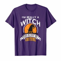 Witch Halloween Costume T-shirt This Is Just My Costume