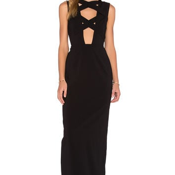 AQ/AQ Talli Maxi Dress in Black
