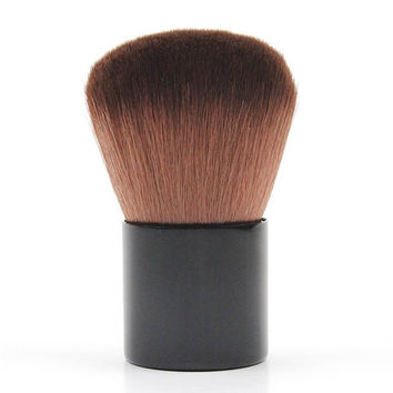 Cosmetic Multifunction Fiber Powder Brush Kabuki Brush with PU Brush Bag
