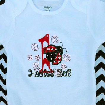 Birthday Onesuit-T-Shirt-Short Sleeve-Long Sleeve-Lady Bug with or without name
