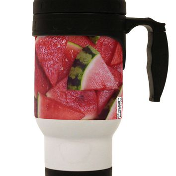 Watermelon Everywhere Stainless Steel 14oz Travel Mug All Over Print