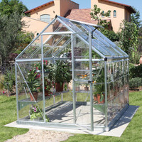 Palram Harmony 6' x 8' Greenhouse with Starter Kit