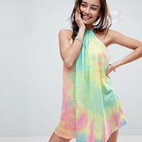 ASOS Halter Tie Dye Beach Cover Up at asos.com
