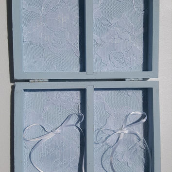 Something Blue MR&MRS Romantic Wedding Ring Bearers Box Divided his hers Hearts