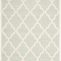 Cambridge Contemporary Indoor Area Rug Light Grey / Ivory