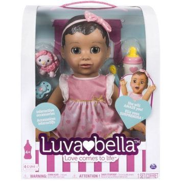 Spin Master Luva Bella Real Baby Doll African American Brunette