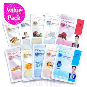[ Value Pack ] Dermal Collagen Essence Mask x 10pcs