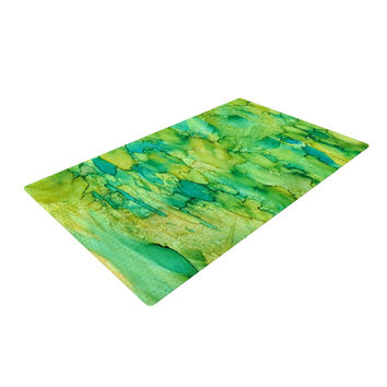 """Rosie Brown """"Going Green"""" Emerald Woven Area Rug"""