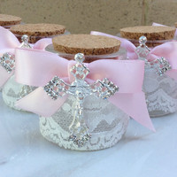 35 pcs lace holy water bottles, favors, recuerditos, baptism favors, wedding favors, communion favors