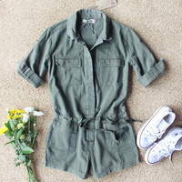 Sweetly Olive Romper