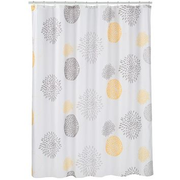 Spencer Mums Fabric Shower Curtain
