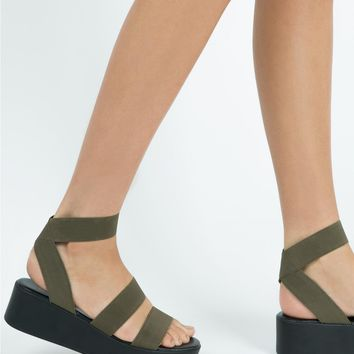 Therapy Khaki Elastic Rafter Sandals