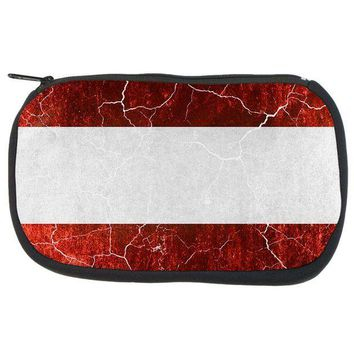 PEAPGQ9 Austrian Flag Distressed Grunge Travel Bag