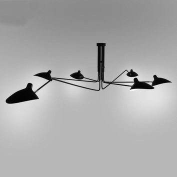 Retro industrial loft Nordic Iron Ceiling light living room creative artistic personality Duckbill lampshade spider Ceiling lamp
