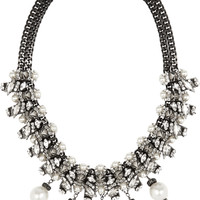 Erickson Beamon - Debutante Punk gold-plated, faux pearl and Swarovski crystal necklace