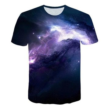 New Summer Cool 3d T-shirts Men/Women Casual Loose Short Sleeve t shirt Space Galaxy Print Tops & Tees Punk Streetwear Clothing