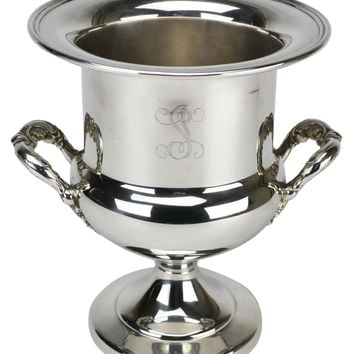 Large Silver Plated Champagne Cooler or Ice Bucket Vintage French