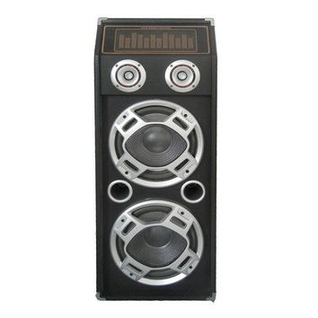 1000 Watt Disco Jam 2-Way Passive DJ Speaker w/ Dual 10'' Subwoofers, Dual Tweeters & Flashing DJ Lights (For Use w/ PSUFM1035A)