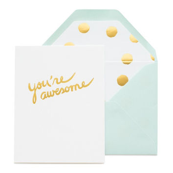 """""""You're Awesome"""" single card"""