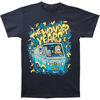 Wonder Years Men's  Scooby Van Slim Fit T-shirt Blue
