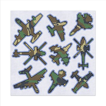 Military Camouflage Aircraft, Airplanes, Felt Storyboard Art, Teacher Resource, Quiet Time Toy, Imagination, Early Childhood Educational Fun