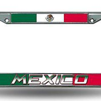 FIFA Mexico Chrome Metal License Plate Tag Frame Cover World Cup Soccer Football