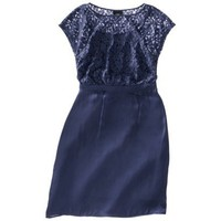 Mossimo® Women's Satin Cap Sleeve Lace Bodice Dress - Assorted Colors