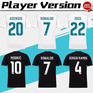 2018 player version Away black Real Madrid Soccer Jersey 17/18 CR7 soccer shirt Ronald