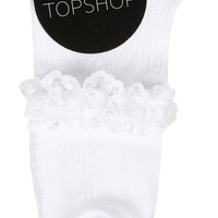 Lace Trim Ankle Socks