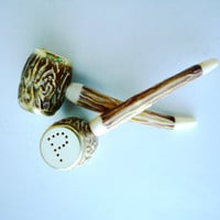 Kitsch Salt and Pepper Shakers Pipes Missouri / SALE
