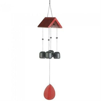 Birdhouse Roof Iron Wind Chimes