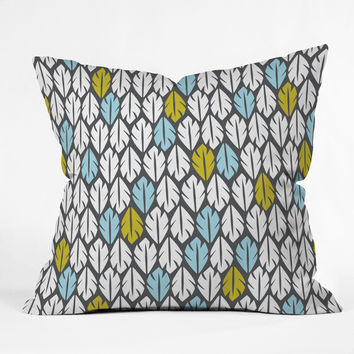 Heather Dutton Foliar Throw Pillow