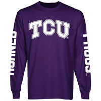 TCU Horned Frogs Back To Basics Long Sleeve T-Shirt - Purple