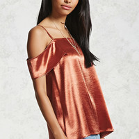 Open-Shoulder Satin Cami