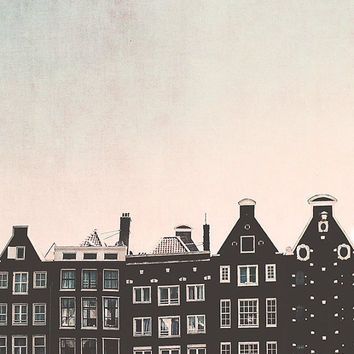 Amsterdam photography, Amsterdam houses, crooked Houses, travel photo, Holland print, Dutch wall art, fine art print, wall decor, home decor
