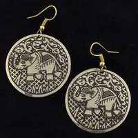 Metal Coin Earrings