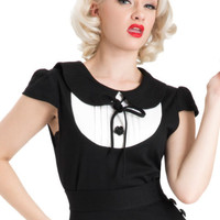 50'S PIN UP ROMANTIC GOTHIC FETISH GOTH VAMPIRE TOP TATTOO EMO PUNK ROCK