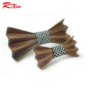 Hand Carved Wooden Bowtie - ADULT & KID SIZES AVAILABLE!