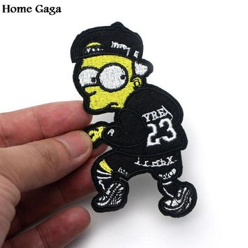 Homegaga The Simpsons Cartoon Iron on Patches Clothing para DIY Embroidered badges Sewing Applique Patchworks stickers D0819