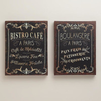 Parisian Signs, Set of 2 - World Market