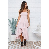 Thoughts Of You High Low Skirt (Rose)