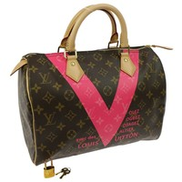 Auth LOUIS VUITTON Speedy 30 Duffle Hand Bag Monogram M41533 EXCELLENT RK12418