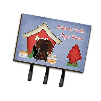 Dog House Collection Wire Haired Dachshund Chocolate Leash or Key Holder